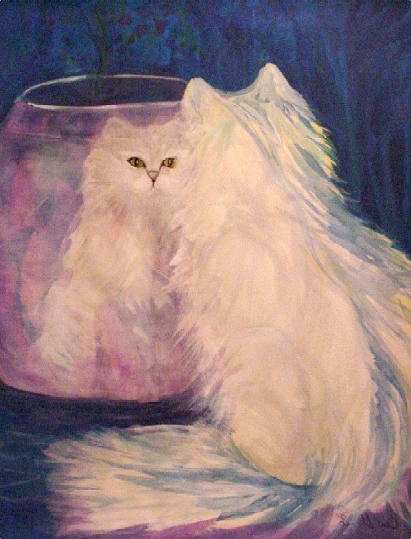 Cats Painting - Vanity by Carolyn LeGrand