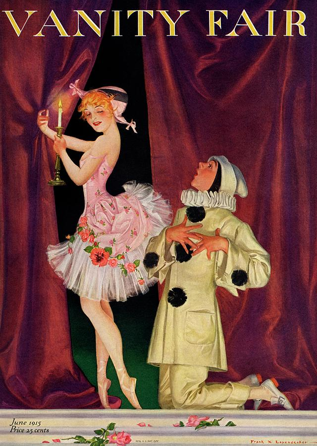 Vanity Fair Cover Featuring A Ballerina Photograph by Frank X. Leyendecker
