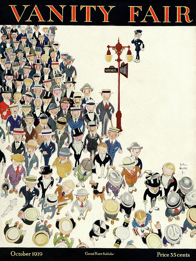 Vanity Fair Cover Featuring A Crowd Photograph by John Held Jr