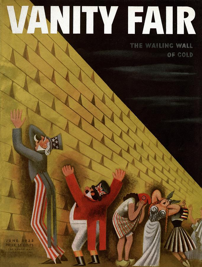 Vanity Fair Cover Featuring A Group Of Figures Photograph by Miguel Covarrubias