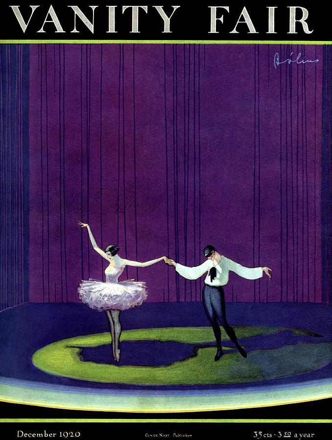 Vanity Fair Cover Featuring A Masked Male Dancer Photograph by William Bolin