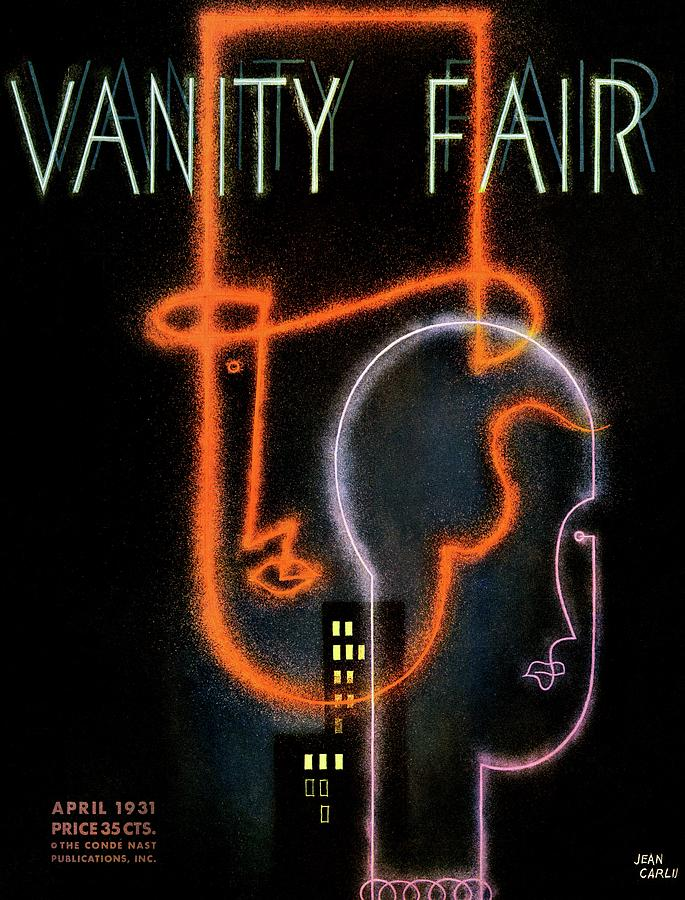 Vanity Fair Cover Featuring A Neon Illustration Photograph by Jean Carlu