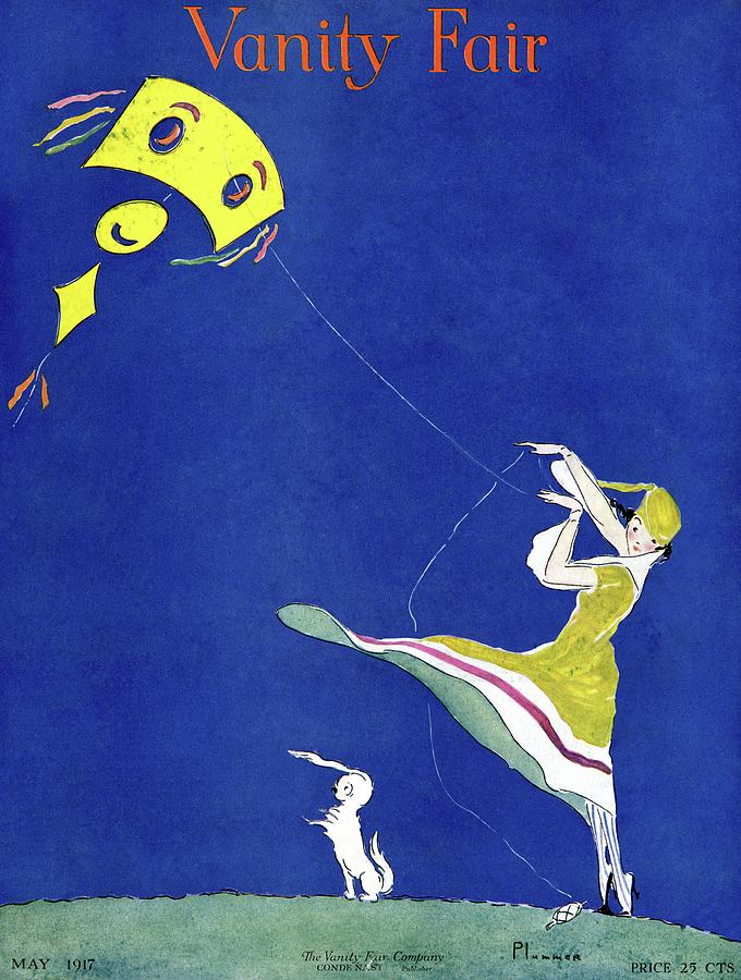 Vanity Fair Cover Featuring A Woman Flying A Kite Photograph by Ethel Plummer