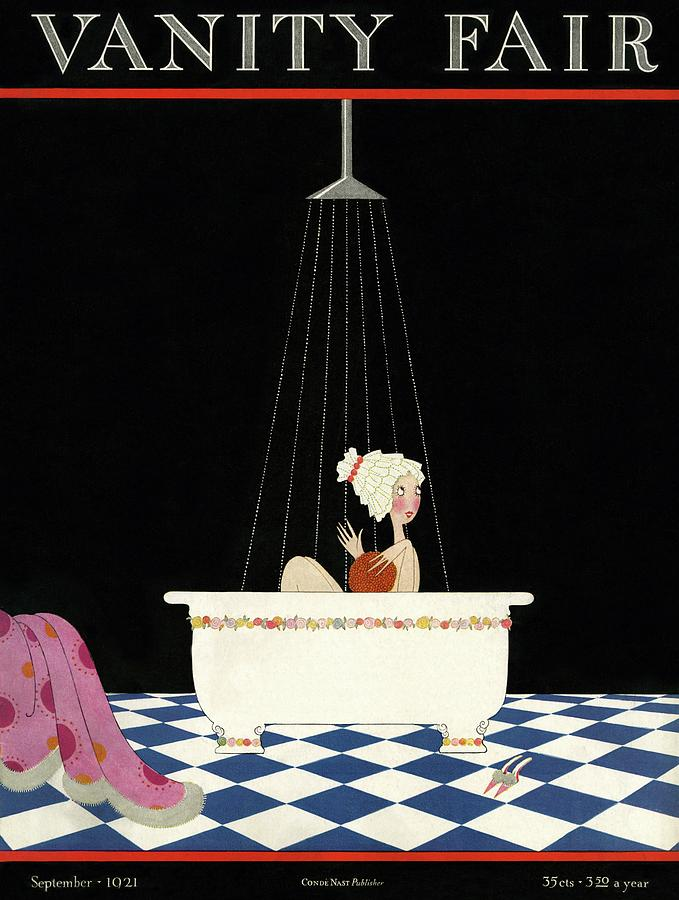 Illustration Photograph - Vanity Fair Cover Featuring A Woman In A Bathtub by A. H. Fish