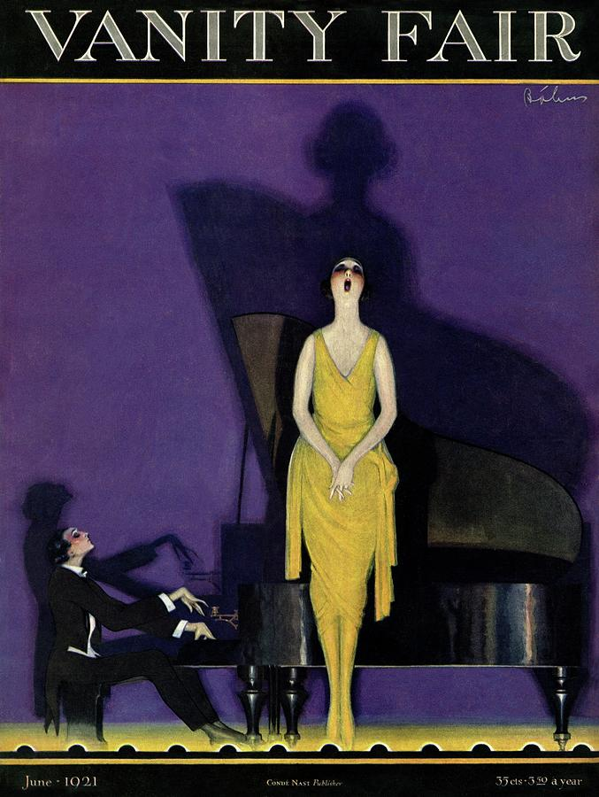 Vanity Fair Cover Featuring A Woman Singing Photograph by William Bolin