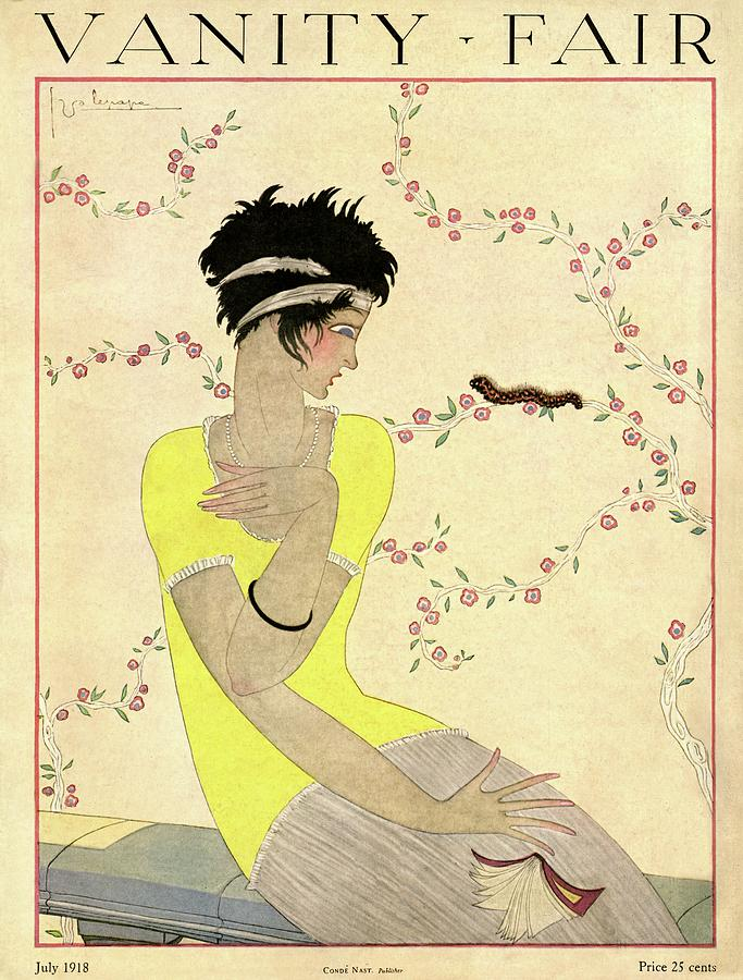 Vanity Fair Cover Featuring A Woman Watching Photograph by Georges Lepape