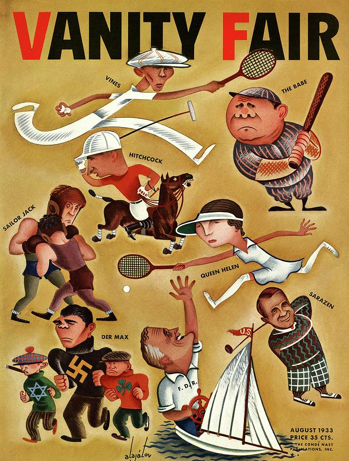 Vanity Fair Cover Featuring Caricatures Photograph by Constantin Alajalov