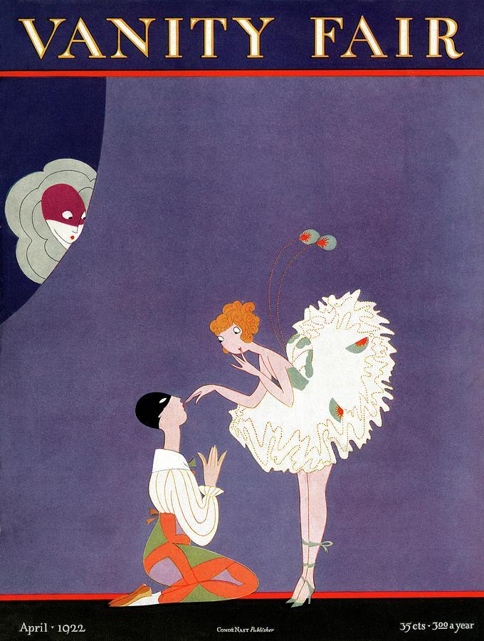 Vanity Fair Cover Featuring Dancers Flirting Photograph by A. H. Fish