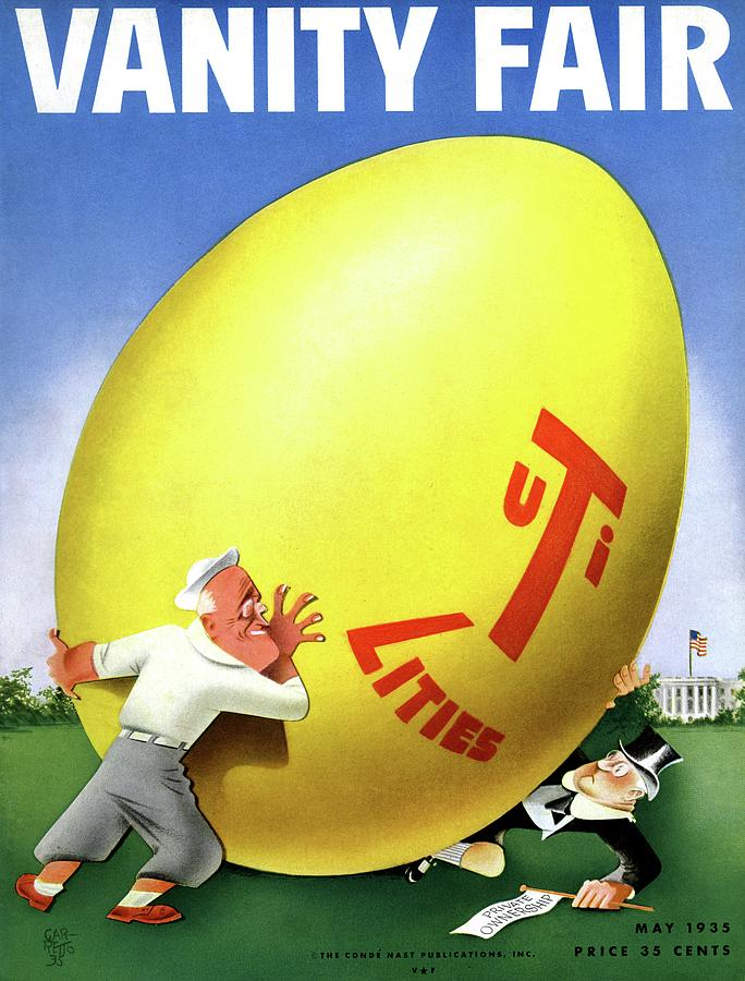 Vanity Fair Cover Featuring Easter Egg Rolling Photograph by Paolo Garretto
