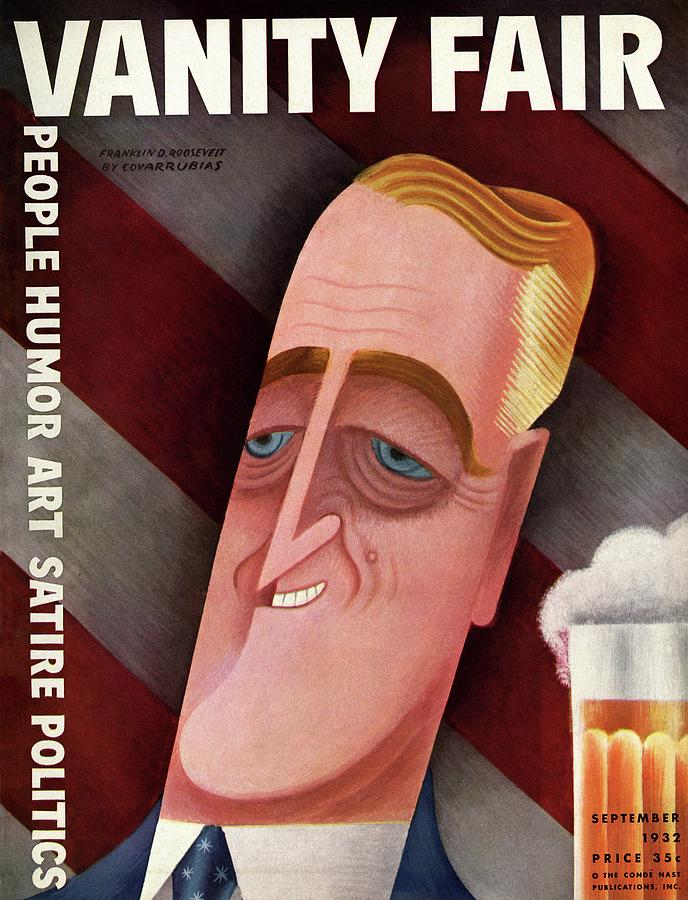 Vanity Fair Cover Featuring Franklin D. Roosevelt Photograph by Miguel Covarrubias