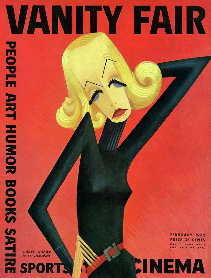 Vanity Fair Cover Featuring Greta Garbo Photograph by Miguel Covarrubias