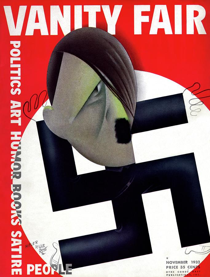 Vanity Fair Cover Featuring Hitlers Face Photograph by Paolo Garretto