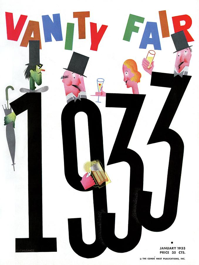 Vanity Fair Cover Featuring People Celebrating Photograph by Frederick Chance
