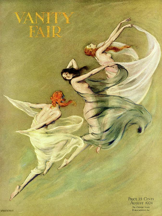 Vanity Fair Cover Featuring Three Nymphs Photograph by Warren Davis