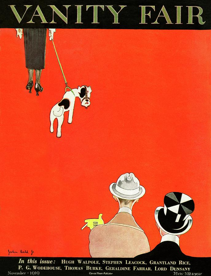 Vanity Fair Cover Of Dog Walking Photograph by John Held Jr