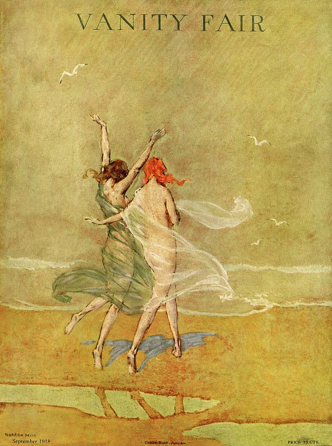 Vanity Fair Cover Featuring Two Nymphs Photograph by Warren Davis