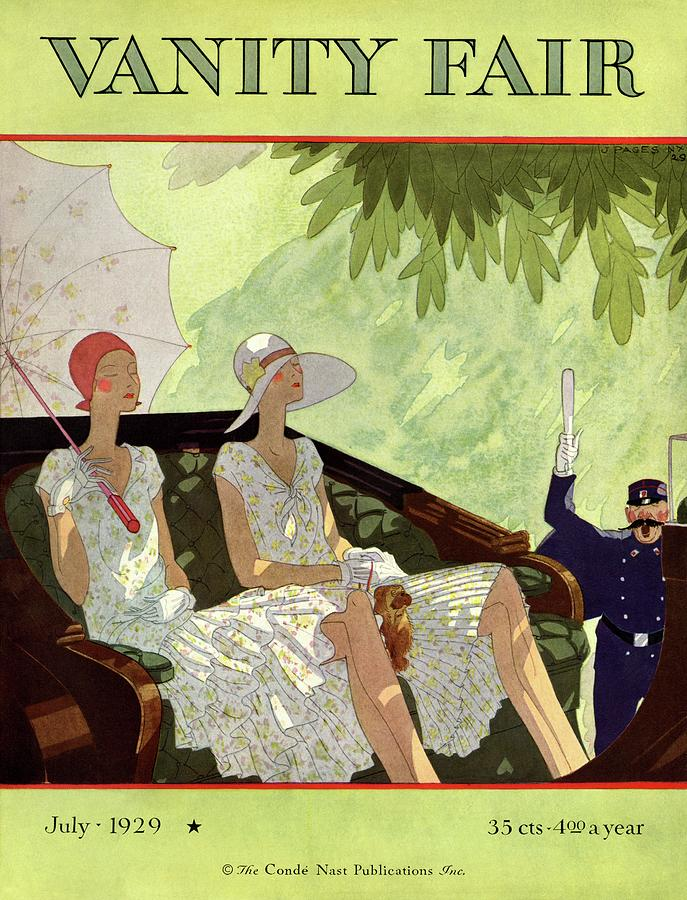 Vanity Fair Cover Featuring Two Women Sitting Photograph by Jean Pages