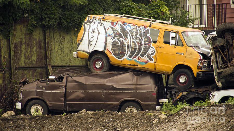 Nyc Photograph - Vans by Mark Thomas