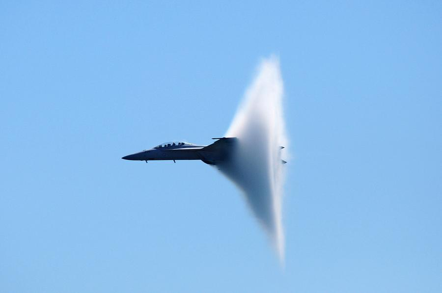 Military Jet Photograph - Vapor Cone by Mike Quinn