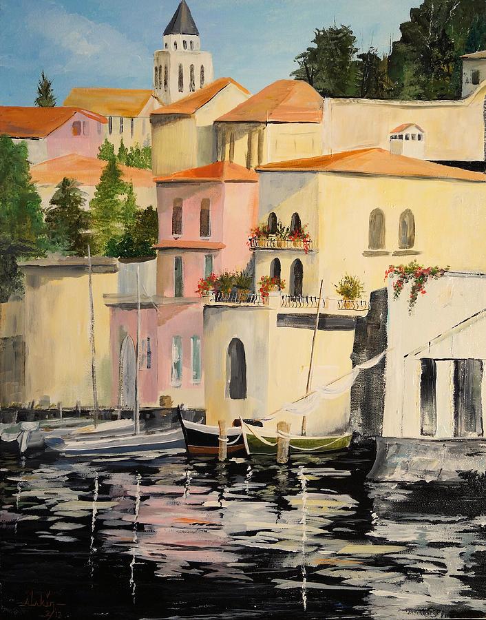 Landscape Painting - Varenna by Alan Lakin
