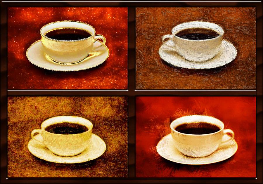 Acrylic Painting Coffee Cups