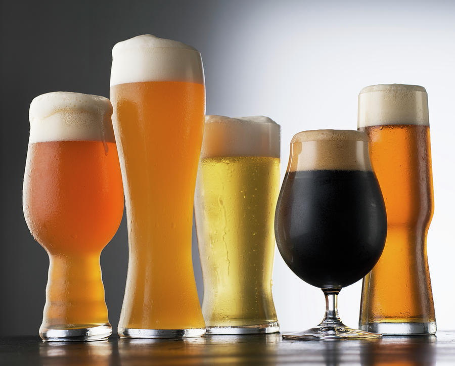 Variety Of Beer Glasses Photograph by Jack Andersen