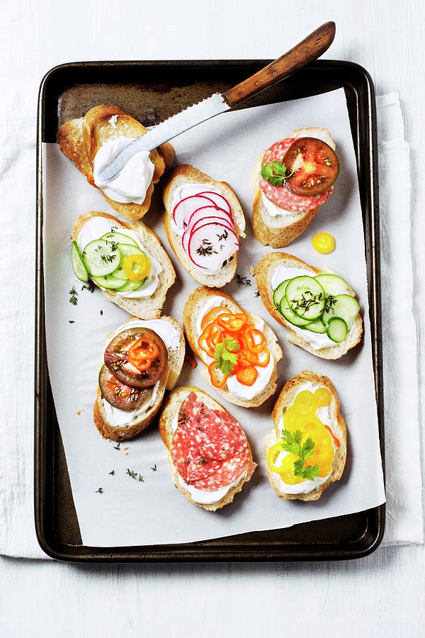 Variety Of Crostini Photograph by Claudia Totir