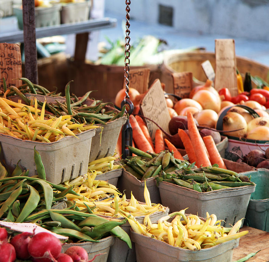 Various Vegetables At A Market Stall Photograph by EricFerguson