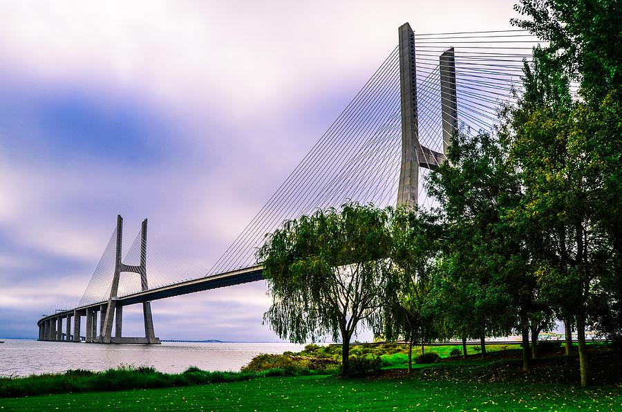 Bridge Photograph - Vasco Da Gama Bridge I by Alexandre Martins