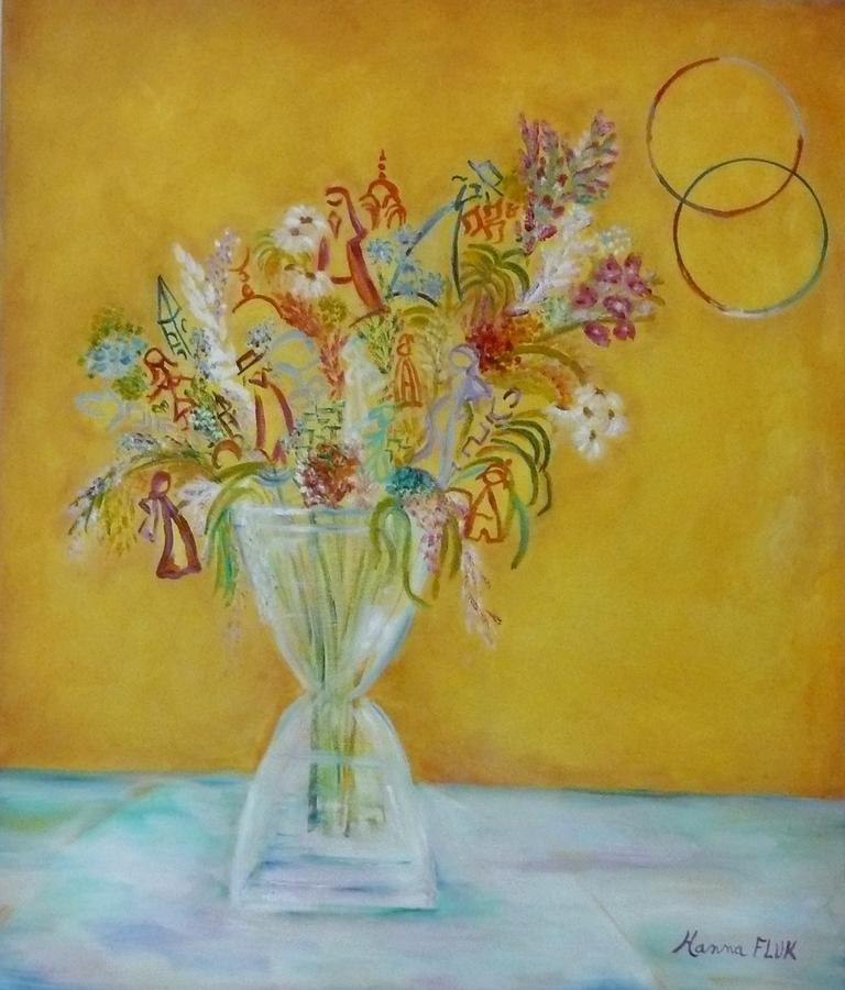 Urban Painting - Vase Flowers by Hanna Fluk