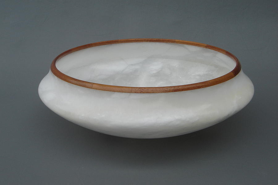 Alabaster Sculpture - Vase by Leslie Dycke