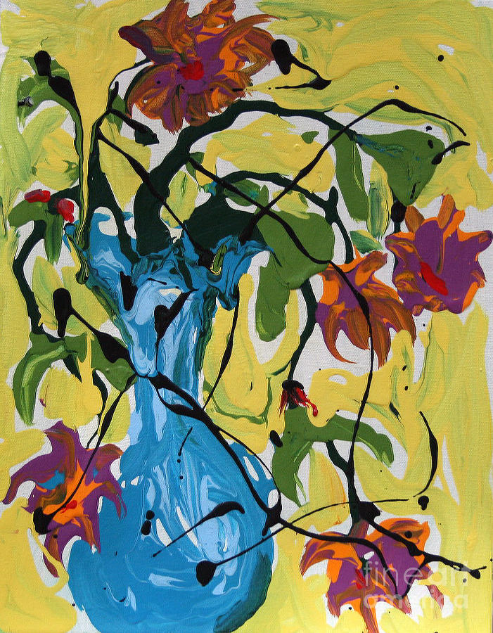 Still Life Painting - Vase Of Flowers by Alison Caltrider