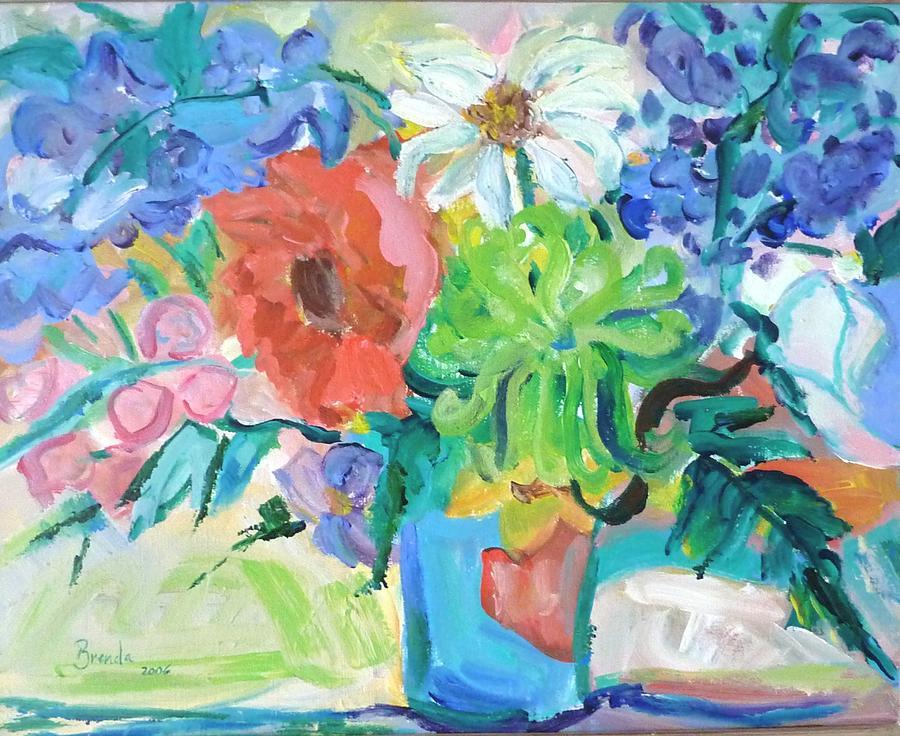 Painting Painting - Vase Of Flowers by Brenda Ruark