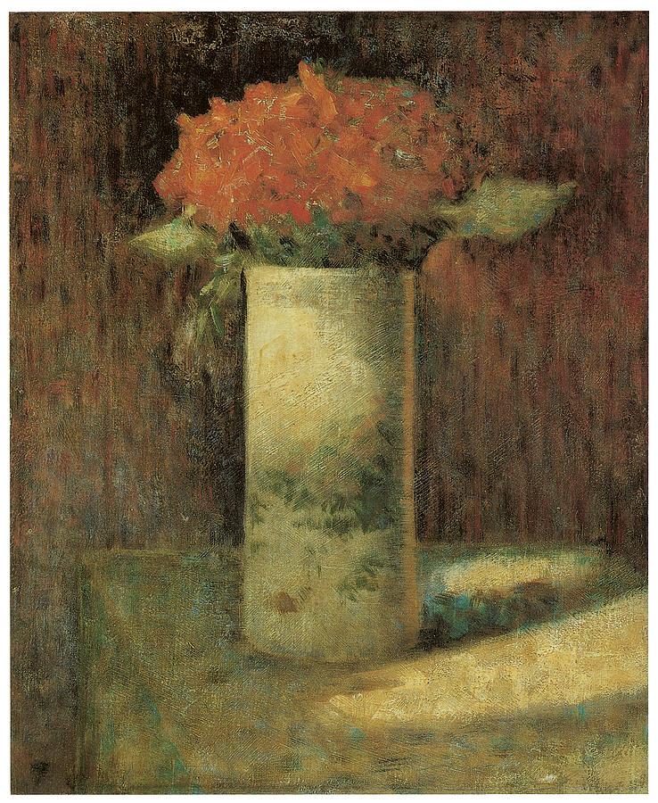 George Seurat Painting - Vase Of Flowers by Georges Seurat