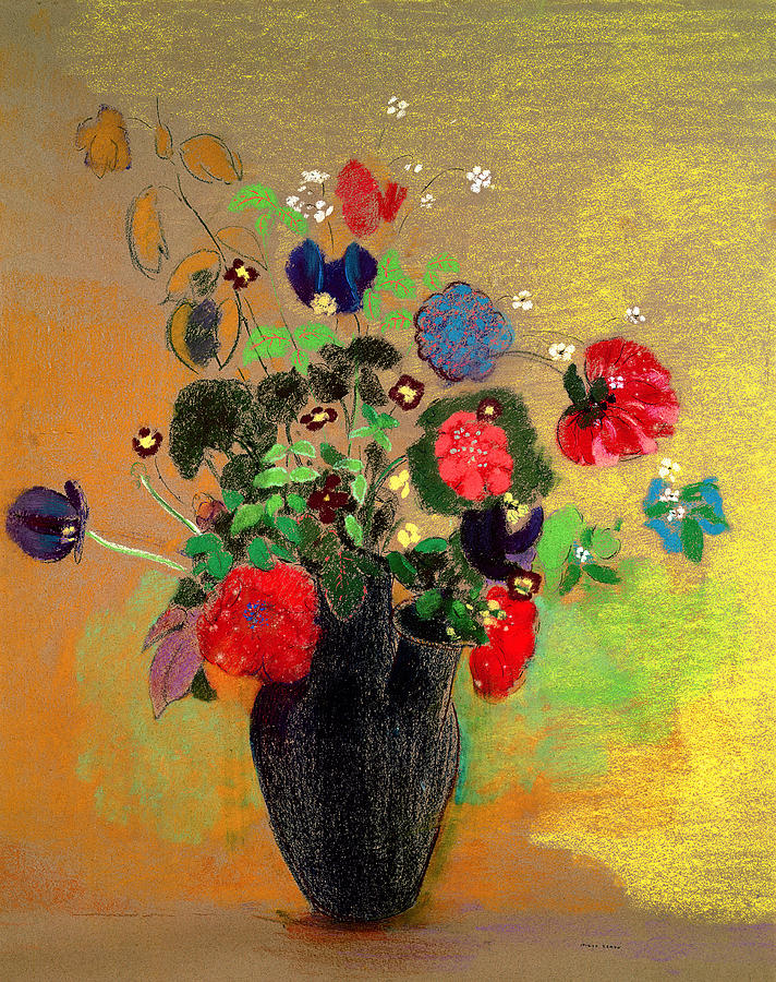 Vase Of Flowers Painting by Odilon Redon