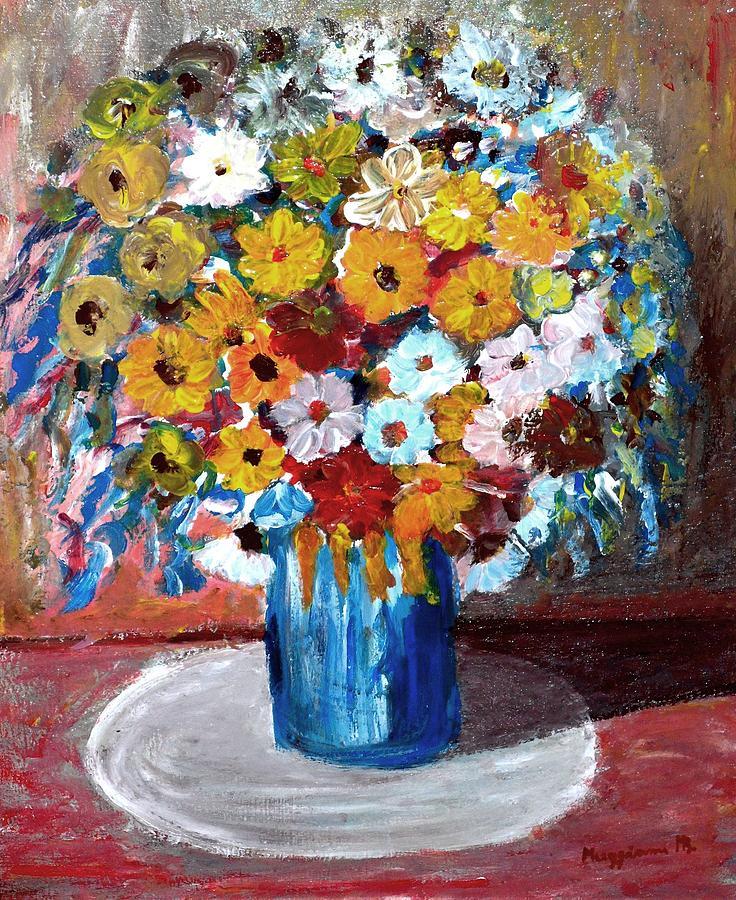 Sprong Painting - Vase Of Spring by Mauro Beniamino Muggianu