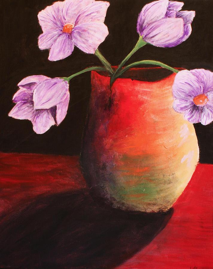 Arts Painting - Vase by Whitney Nanamkin