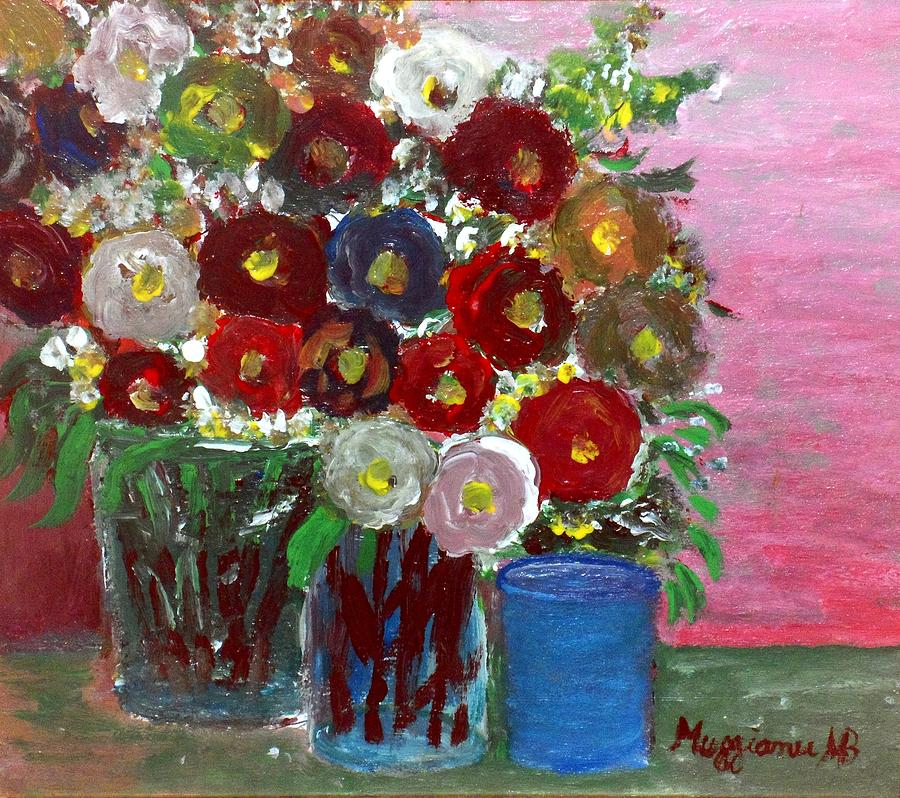 Wild Roses Painting - Vases Of Spring  by Mauro Beniamino Muggianu