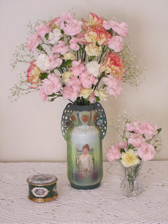 Vases Photograph - Vases Pink Cast And Trinket Box by Good Taste Art