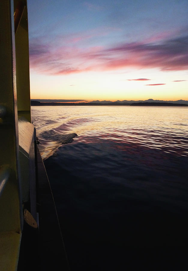 Wake Photograph - Vashon Waters by Christine Burdine