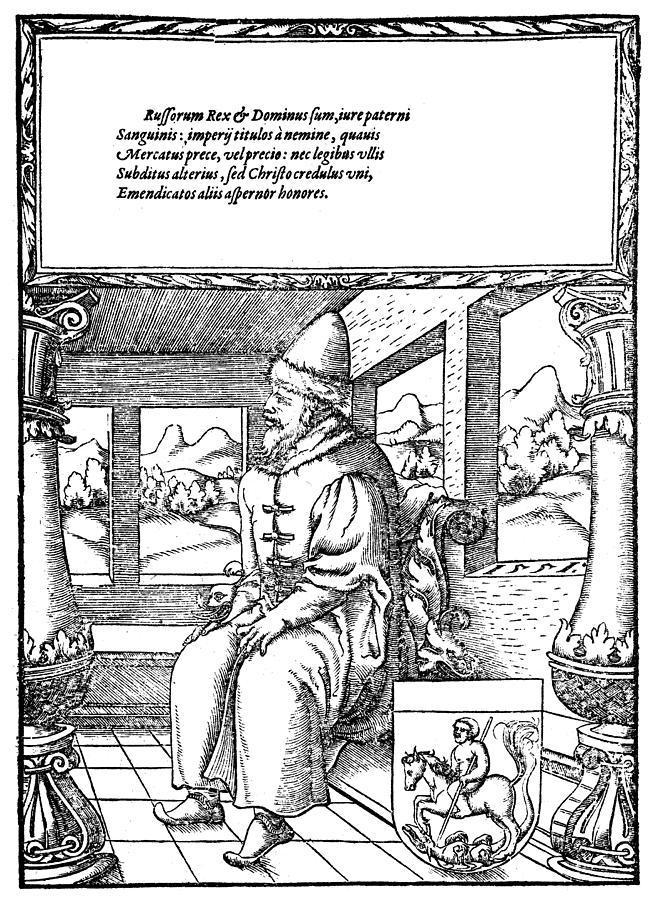 16th Century Painting - Vasily IIi Ivanovich (1479-1533) by Granger
