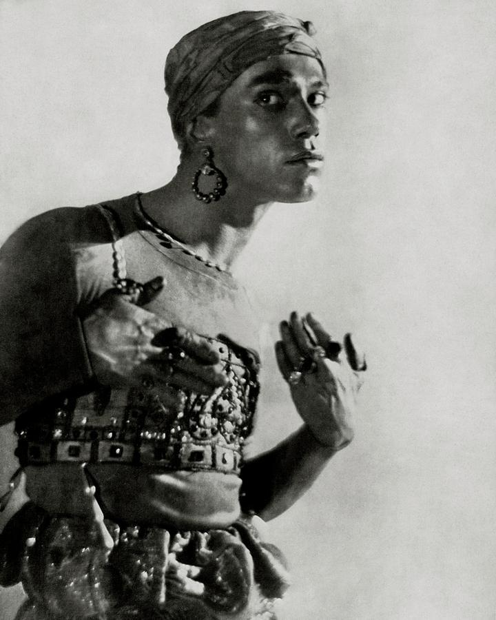 Vaslav Nijinsky In Costume Photograph by Adolphe De Meyer