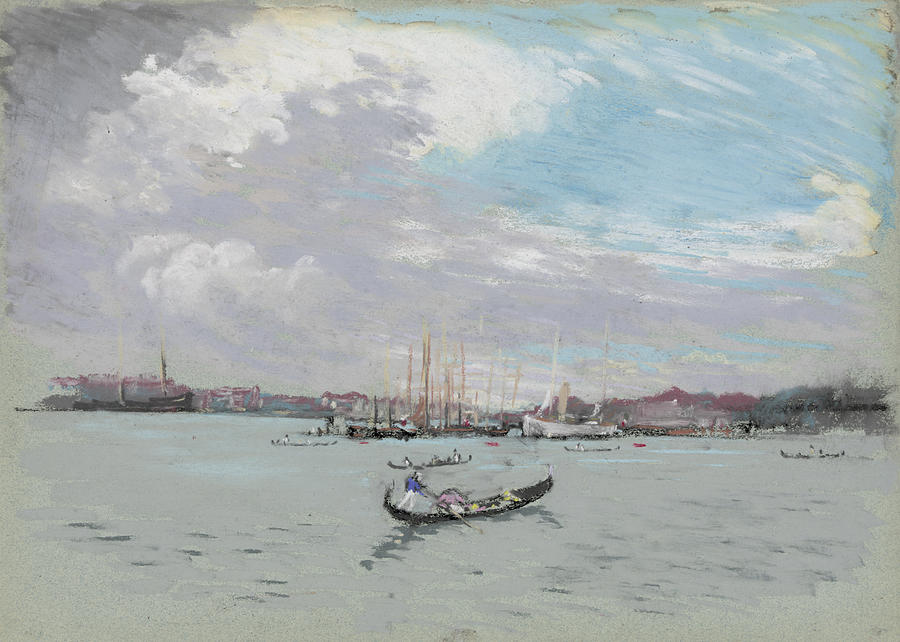 Joseph Pennell Painting - Vast Lagoon Outside Venice Circa 1901 by Aged Pixel