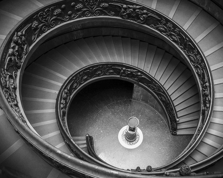 Above Photograph - Vatican Stairs by Adam Romanowicz