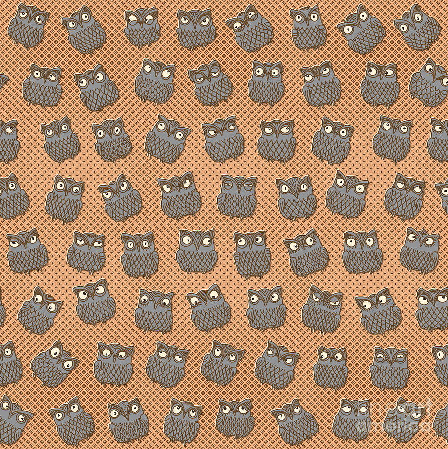 Howlet Digital Art - Vector Abstract Seamless Pattern From by L. Kramer