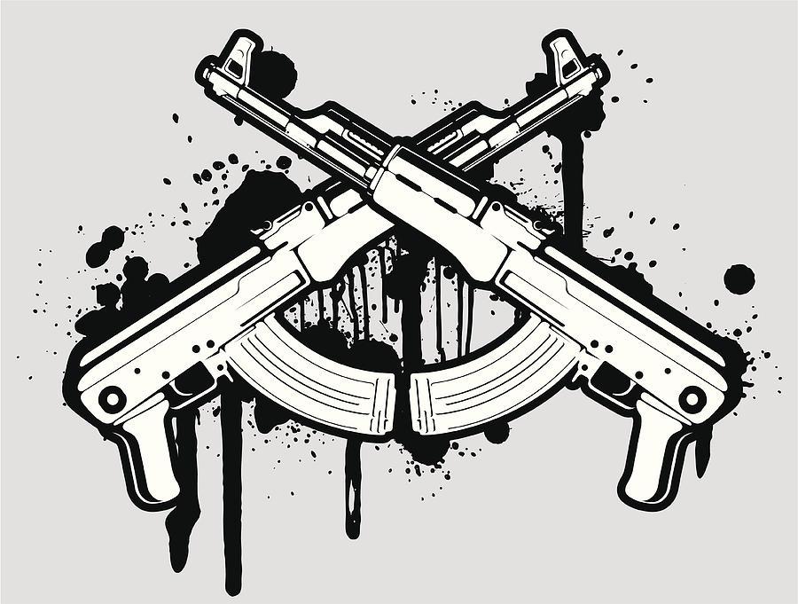 vector AK 47 by Daver2002ua