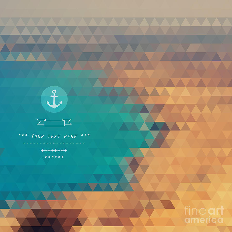 Color Digital Art - Vector Background Made Of Triangles by Lera Efremova