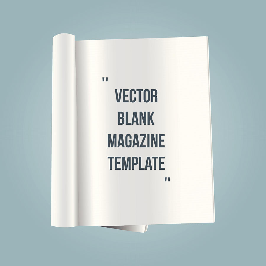 Vector Blank Magazine Template Drawing by Mysondanube