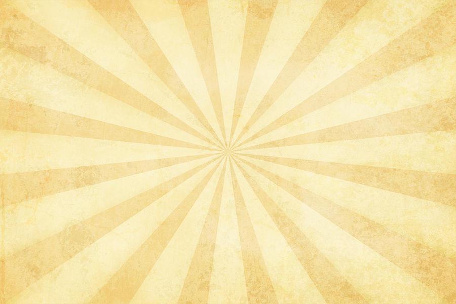 Vector illustration of grunge light brown sunburst Drawing by Desifoto