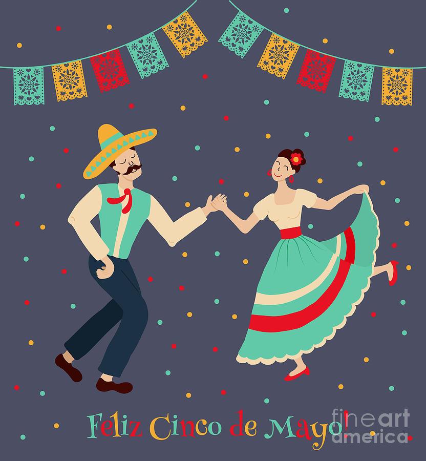 De Digital Art - Vector Illustration Of Happy Dancing by Los ojos pardos